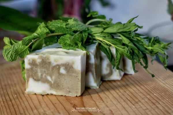 mint and tarragon soap bar