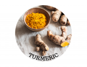 turmeric ingredient in soap on a table